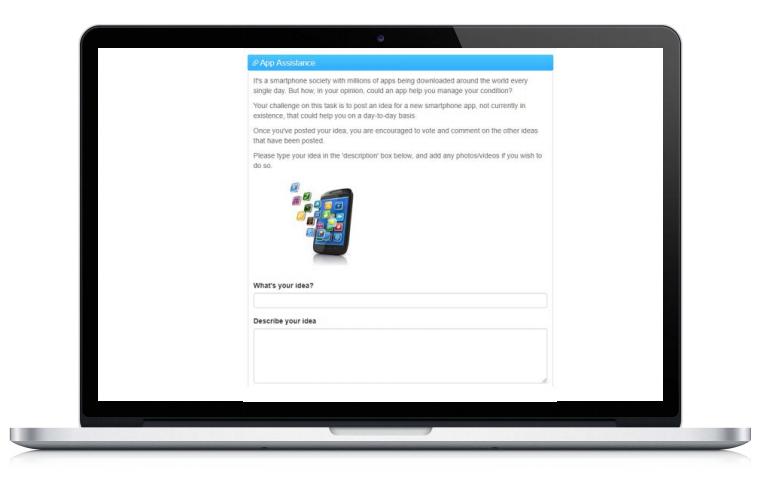 online community engagement ideas on a laptop screen
