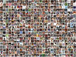 Collage of people as part of market research online communities